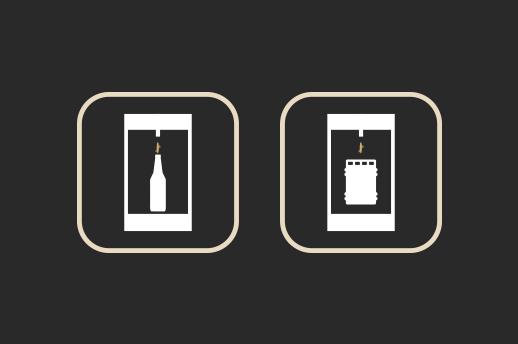 Enchimento A cerveja «fresca» é enchida a baixa temperatura (4-5ºC) e em contrapressão de forma a manter o mesmo nível de carbonatação da cuba em garrafa e barril.